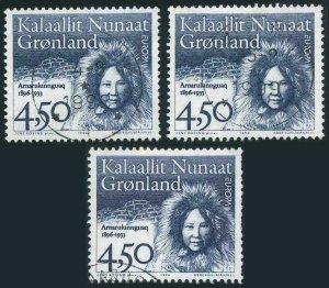 Greenland 311,used.Mi 293. EUROPE CEPT-1996.Arnarulunnguaq.Thule Expedition.