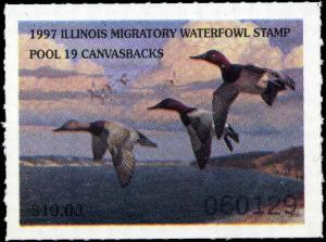 ILLINOIS #24 1998 STATE DUCK STAMP CANADA GEESE  by Tom Hirata