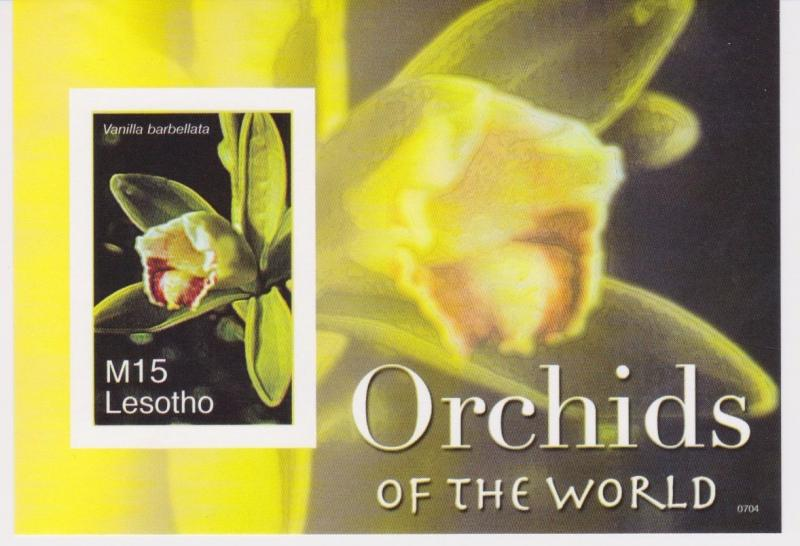 Lesotho - Orchids, Flowers, 2007 - Sc 1419 S/S MNH - IMPERFORATE