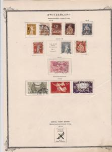 switzerland early stamps  on album page ref r11449