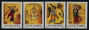 Yugoslavia MNH 2123-6 Illustrations From Ancient Manuscripts