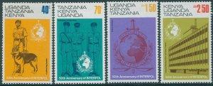 Kenya Uganda Tanganyika 1973 SG338-341 Interpol set MNH