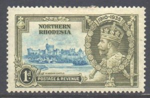 Northern Rhodesia Scott 18 - SG18, 1935 Silver Jubilee 1d MH*