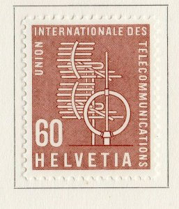 Switzerland Helvetia 1958 Early Issue Fine Mint Hinged 60c. NW-170839