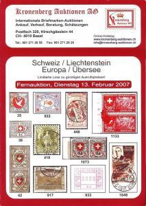 Schweiz / Liechtenstein / Europa / Ubersee, Kronenberg 02...