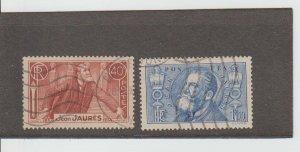 France  Scott#  313-314  Used  (1936 Jean Leon Jaures)