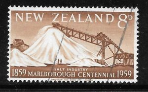 New Zealand 329: 8d Salt Industry, used, F-VF