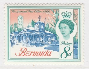 British Colony Bermuda 1962 8d MH* Stamp Historical Buildings A22P18F8923