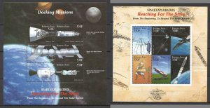 H0916 BURKINA FASO SPACE EXPLORATION REACHING FOR THE STARS !!! 2KB MNH