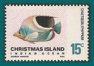 Christmas Island 1970 Saddle Butterflyfish, MNH 29,SG28a