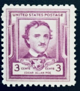 United States #986 3¢ Edgar Allan Poe (1949)  MNH