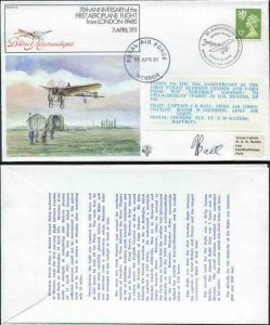 FF29b 1st Aeroplane Flight from London - Paris Signed by Beaver Captain