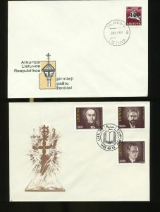 Lithuania 1990s Covers FDC x 19 (W663