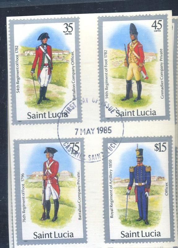 St Lucia #747-61 Used FDC F-VF Cat$52.25