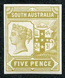 South Australia 1894 5d Colour Trial in yellow bistre no wmk Paper Fresh U/M