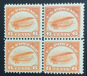 MOMEN: US STAMPS #C1 BLOCK MINT OG NH POST OFFICE FRESH $480 LOT #70859