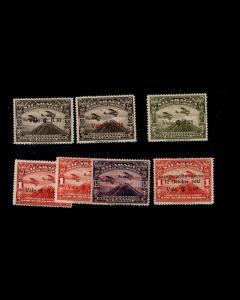 VINTAGE: NICARAGUA 1932 OGLHLHR,15 BH SCOTT # C25-31 $ 131.50 LOT # NIC1932K