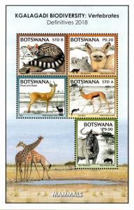 Botswana - 2018 Fauna of the Kgalagadi MS Set MNH**