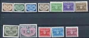 Germany General Government Accumulation 1940/43 MNH/MH Dienstmarken 7486