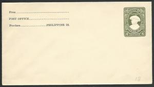 PHILIPPINES 4c envelope unused.............................................59133