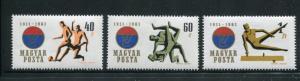 Hungary #1403-5 MNH