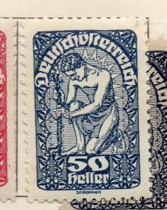 Austria 1919 Early Issue Fine Mint Hinged 50h. 181047