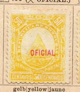 Honduras 1890 Early Issue Fine Mint Hinged 50c. Official Optd NW-11887