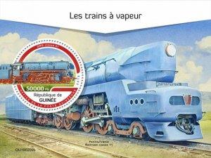 GUINEA - 2019 - Steam Trains - Perf Souv Sheet - M N H
