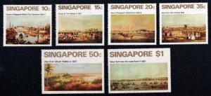 SINGAPORE SC#144-149 Views of Singapore Ship Painting MNH