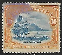 Guatemala # 118 - Lake Amatitlan - used   {BRN17}