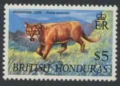 British Honduras SG 278 SC # 240 MLH  Wildlife   Puma   1969  see scans