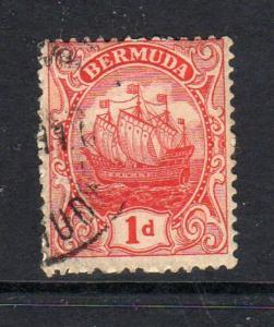 BERMUDA #83  1928  1p CARAVEL    F-VF USED  c