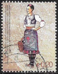 U.N. Kosovo 74 Used - Traditional Costumes - Serbian Woman