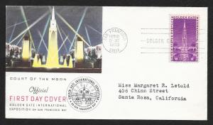 UNITED STATES FDC 3¢ Golden Gate Exposition 1939 Cacheted