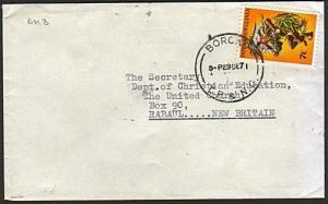 PAPUA NEW GUINEA 1971 cover ex BOROKO......................................74166