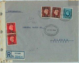 BK0281 -  MOROCCO AGENCIES - POSTAL HISTORY: COVER: TETUAN double CENSOR 1944