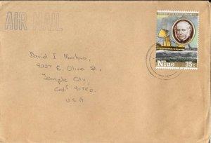 NIU41) NIUE 1989 1st Transatlantic U.S.A Mail Vessel - Rowland Hill