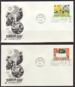 US 2951-2954 Earth Day Artcraft S/4 U/A FDC