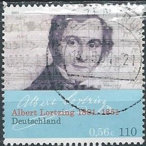 Germany 2110 (used) 56c/110pf Albert Lortzing, composer (2001)