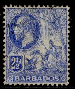 BARBADOS GV SG174, 2½d bright blue, USED.