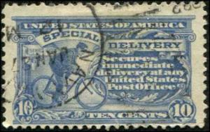 USA SC# E6a  Speccial Delivery 10¢ Blue Used