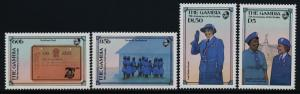 Gambia 589-92 MNH Girl Guides