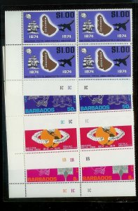 BARBADOS Sc#412-415 Complete Mint Never Hinged BLOCK Set