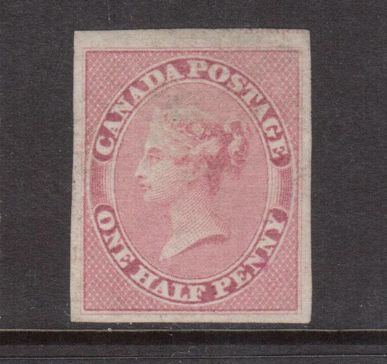 Canada #8 XF Mint Showing Imprint At Upper Margin