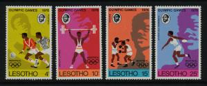 Lesotho 209-12 MNH Olympic Sports, Soccer, Boxing, Weightlifting