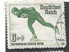 Germany #B79   6+4pf green 1936 Winter Olympics (U) CV$1.40