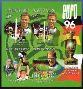 Niger 1996 FOOTBALL EURO'96 GERMANY WINNERS Sheet Imperforated Mint (NH)