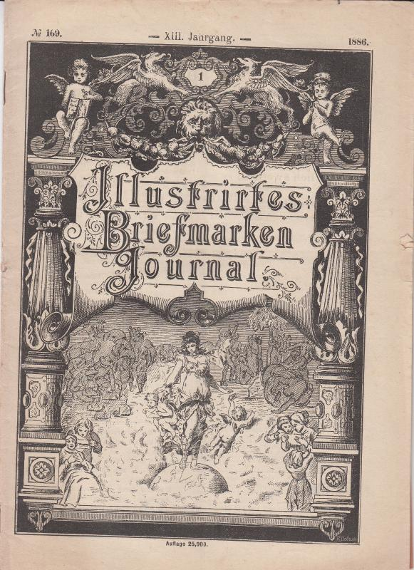 Illustrates Briefmarken Journal  1886 #169