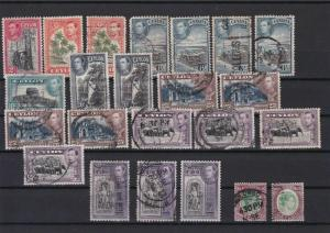 CEYLON 1938 - 1949 USED  STAMPS VALUES TO 5 RS REF R 1802