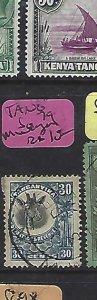 TANGANYIKA  (P0810B)  GIRAFFE 30C SG 79 MWANZA  CDS  VFU